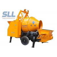 China Remote Control Concrete Mixer Pump Small Cement Pump Large Capacity on sale
