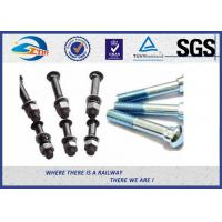 Cheap Railway Bolt SGS Inspected , Black Rail Joint Bolt 40Cr Carbon Steel for sale