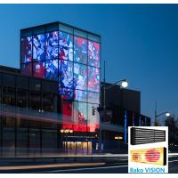 Cheap Outdoor IP67 Waterproof Transparent Glass LED Display P25 6500 Nits For Advertising for sale