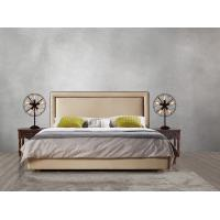 Cheap 2017 new design of Leather / Fabric American style Bedroon furniture Upholstered headboard set bed/king size Bed for sale