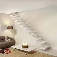 Cheap Wooden stair with Glass railing/ Build Floating Stair for sale