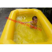 Cheap double tubes pvc tarpaulin inflatable kids swimming pool for sale for sale