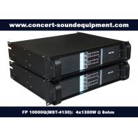 Buy cheap Concert Sound Equipment / 4 Channel 4x1300W Switching Amplifier FP 10000Q With Actual Copper Heat Sink from Wholesalers