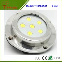 Cheap 6X1W Optional Green,Blue or White Marine Boat LED Underwater Surface Mount Dome LED light for sale