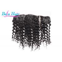 Cheap Natural Black Malaysian Deep Curl Human Hair Closure For Black Women for sale