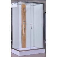 Cheap 1200x800x2150mm Rectangular Shower Cabins With Bamboo for sale