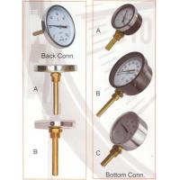 """Cheap 1/2 NPT Stem 3"""", 4"""", 6"""" Dial Bimetal Thermometer With Brass Socket for sale"""
