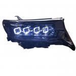 Cheap RGB Angel Eye LED Headlights For Toyota Land Cruiser Prado GXL PW Fj150 2018 2019 for sale
