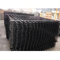Cheap Industrial Steel Security Crimped Spear Fencing Panels for sale