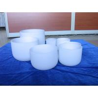 China quartz chakra singing bowls for sound therapy on sale