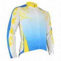 Cheap Bicycle jersey with full zipper beautiful screen print for sale