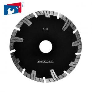 Cheap 230mm Diamond Turbo Blade , Segmented Circular Disc for Cutting Masonry for sale