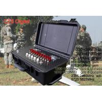 Cheap 9 Bands Military Drone Jammer , Gps Wifi Drone Frequency Blocker 5KM Range for sale