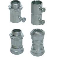 Cheap Waterproof Rigid Aluminum Conduit Fittings , CNC Lathes EMT Conduit Compression Fittings for sale