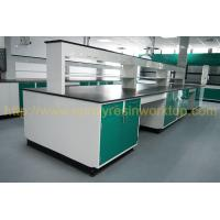 Cheap Glare surface school chemical lab Island bench solid anti high temperature wholesale