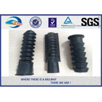 Cheap Black Plastic And Rubber Part Railway HDPE And PA66 Dowel For Screw for sale