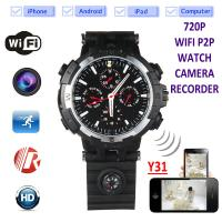 Cheap Y31 16GB 720P WIFI IP Spy Watch Hidden Camera Recorder IR Night Vision Home Security Wireless Remote Video Monitoring for sale
