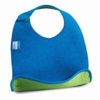 Cheap Baby Bib, Customized Designs are Accepted, Made of Neoprene for sale