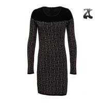 Cheap Crew Neck Womens Long Sweater Dresses Long Sleeve With Hidden Zipper For Winter for sale