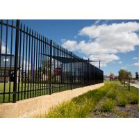 Buy cheap Boundary protection welded galvanized steel temporary picket fence tubular from wholesalers