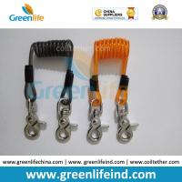 Cheap Steel Spring Short Coiled Lanyard w/Heavy Duty Snap Hook 2pcs Plastic Cord/Wire Inside Both Available for sale