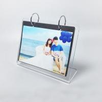 China L Shape Custom Clear Acrylic Photo Frame / Family Picture Frames on sale