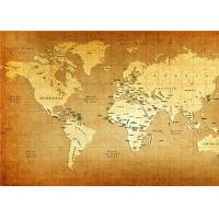 Cheap World Map Interior Decorative Wall Panels For TV Wall  , 5mm 7mm 9mm Thickness for sale