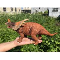 Cheap L30*W10*H14 Walking Triceratops Toy / Plastic Triceratops Dinosaur Toy for sale