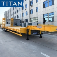Cheap 3 Axle Low Bed Vehicle 60 Ton Heavy Haul Load Bed Truck for sale