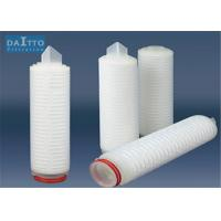 Cheap Single / Double Layer Pleated Filter Cartridge Imported Polypropylene Membrane for sale