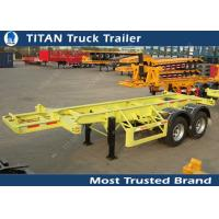 Cheap 2 Axles 30 tons 20 foot skeletal container trailer chassis with 11R22.5 tires for sale