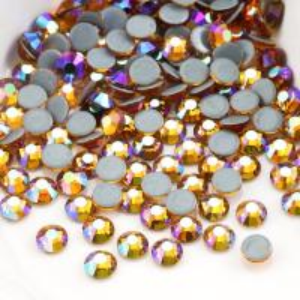 Buy cheap Round Garment Hotfix Glass Rhinestones / Luxury Loose Colored Rhinestones from wholesalers