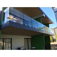 Cheap Exterior balcony glass balustrade with stainless steel spigots glass railing for sale