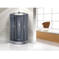Cheap Quadrant Shower Cubicles 900 X 900 X 2250 MM Circle Grey ABS Tray Chrome Profiles for sale