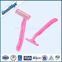 China Pink Single Blade Disposable Razor With Fixed Head For Safer Shaving on sale