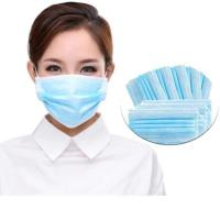 Cheap Breathable 3 Ply Disposable Mask High Filtration Capacity With Elastic Earloop for sale