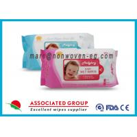 Cheap Baby Wet Tissue Wipes / Individual Flushable Moist Wipes for Travel for sale