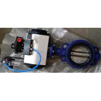 Cheap DN40 ~DN1800 Pneumatic Butterfly Valve With Ductile Iron / Stainless Steel for sale