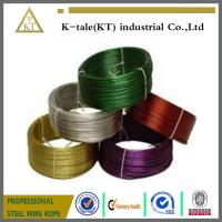 Cheap Black Pvc Coated Stainless Steel Wire Rope , Loop Tie Wire for sale