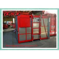 Cheap 1 Ton Capacity Double Cage Construction Elevator Safety For Passenger And Material wholesale