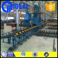 China Industrial equipment automatic steel plate pretreatment line for removing rust on sale