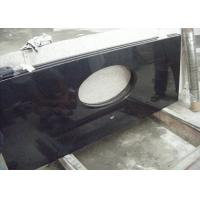 Cheap Black Dupont Granite Bathroom Vanity Tops , Granite Overlay Countertops With 1 Faucet  Hole for sale