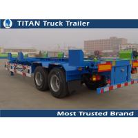 Cheap High Strength Steel 2 axles 45ft terminal container trailers chassis Low Maintenance for sale