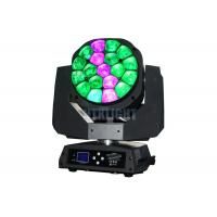 Cheap 19 Pcs 15 Watt Bee Eye Led Moving Head 4° - 60° Electronic Zoom Range for sale