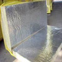 Cheap 50mm/100mm rock wool board with Alum.foil for insulation for sale