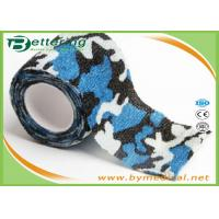 Cheap Blue Colour Camouflage Printing Non Woven Cohesive bandage Pre Wrap for Army Camping Hunting for sale