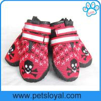 Breathable Dog Shoes Soft Knitting Paw Protector with Reflective Velcro China Manufacturer