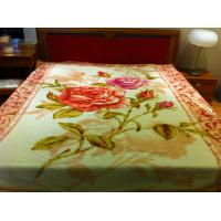 Cheap 100% Acrylic Super Soft Blanket With Pink Double Printed 180X230CM for sale