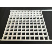 Cheap Aluminum Square Lattice Grille Suspended Ceiling in white for sale