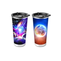 Cheap 450ml PP Cup 3D Lenticular Printing Service For Promotion Gifts for sale